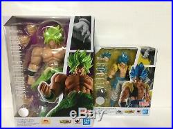 2-SET S. H. Figuarts Dragon Ball Movie Super Saiyan Blue Gogeta & Broly IN STOCK