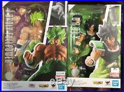 2-SET S. H. Figuarts Super Saiyan Broly + FULL POWER BROLY Dragon Ball Bandai USA