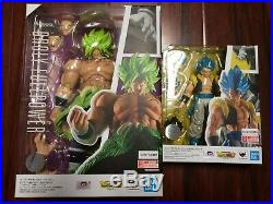 2-SET S. H. Figuarts Super Saiyan Broly + Gogeta Dragon Ball Figure Bandai USA NEW