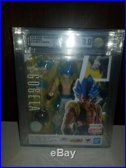 Bandai S. H. Figuarts Dragon ball Super Saiyan Gogeta SSGSS Blue AFA 9.0 Broly
