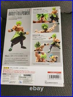 DAMAGED BANDAI S. H. Figuarts Super Saiyan Broly Full Power Dragonball Super dbz