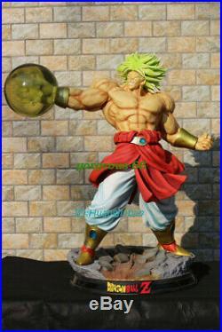 DBZ Dragon Ball Z Super Saiyan Broli VS Son Goku Statue Painted In Stock Figure