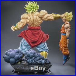 Dragon Ball Handmade Super Saiyan Broli VS Sun Wukong high statue model in stock