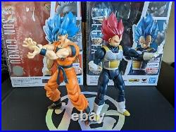 Dragon Ball Super Broly SH Figuarts Super Saiyan Blue Goku & Vegeta