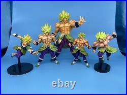 Dragon Ball Super King Clustar Super Saiyan Broly Full Power figure Bundle Lot