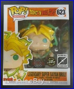Dragon Ball Z -CHASE GITD Legendary Super Saiyan Broly 6 US Exclusive Pop! V