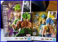 Dragon Ball Z GOGETA SUPER SAIYAN SSGSS & Full Power Broly S. H. Figuarts 2pc SALE
