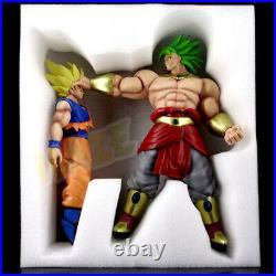 Dragon Ball Z Super Saiyan Broli VS Goku Peinture Action Figure Statue Jouet New