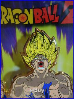 Funimation Dragonball Z Figpin X3 Super Saiyan Goku Glitter, Broly X7 & #174