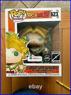 Funko Pop! Dragon Ball Z Legendary Super Saiyan Broly #623 6 Chase GITD