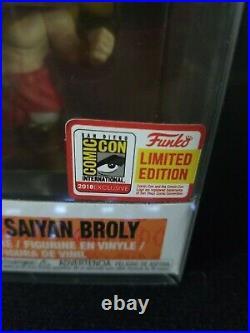 Funko pop Super Saiyan Broly #402 SDCC NEW! SEE PICS! SOFT Protector