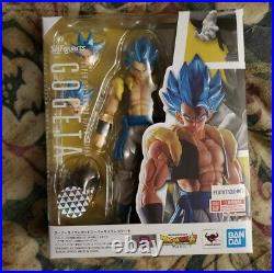 New Bandai S. H. Figuarts DragonBall Z Film Super Saiyan God Blue Gogeta Authentic