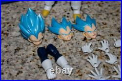 Original authentic Bandai S. H. Figuarts Super Saiyan God Blue SSGSS Vegeta Dragon
