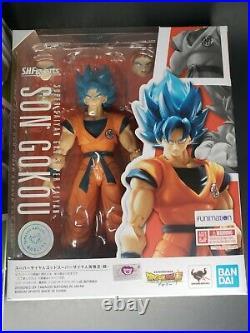 SH Figuarts Super Saiyan God Goku & Super Broly Set Lot