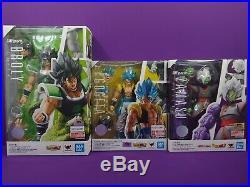 S. H. Figuarts Dragon Ball Super Saiyan Broly, Gogeta and Zamasu Lot