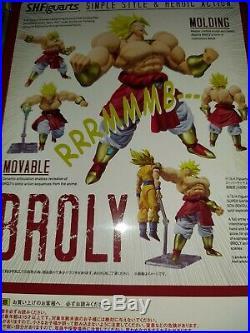 S. H Figuarts Dragon Ball Z Broly Legendary Super Saiyan SDCC Figure Authentic